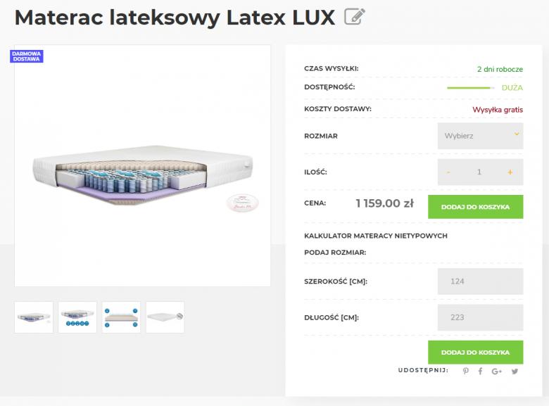 kalkulator materacy na wymiar w sklepie internetowym Studio Materace