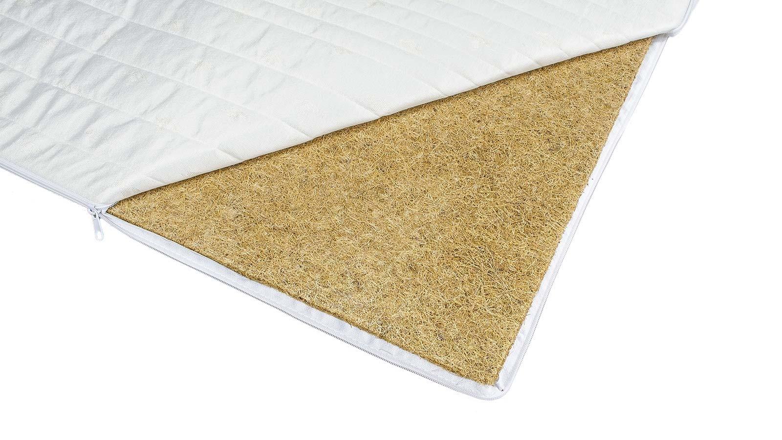 materac do łóżka nawierzchniowy utwardzający Kokos